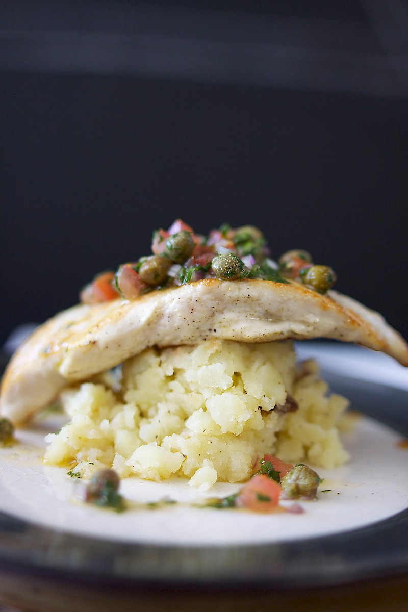 Chicken with roasted mashed potatoes and&… – Mary Miso